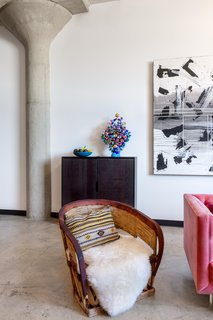 Morrison wanted the space to possess the warmth of her Mexican family's roots with industrial-modern touches and ample space for art—a true reflection of who she is.