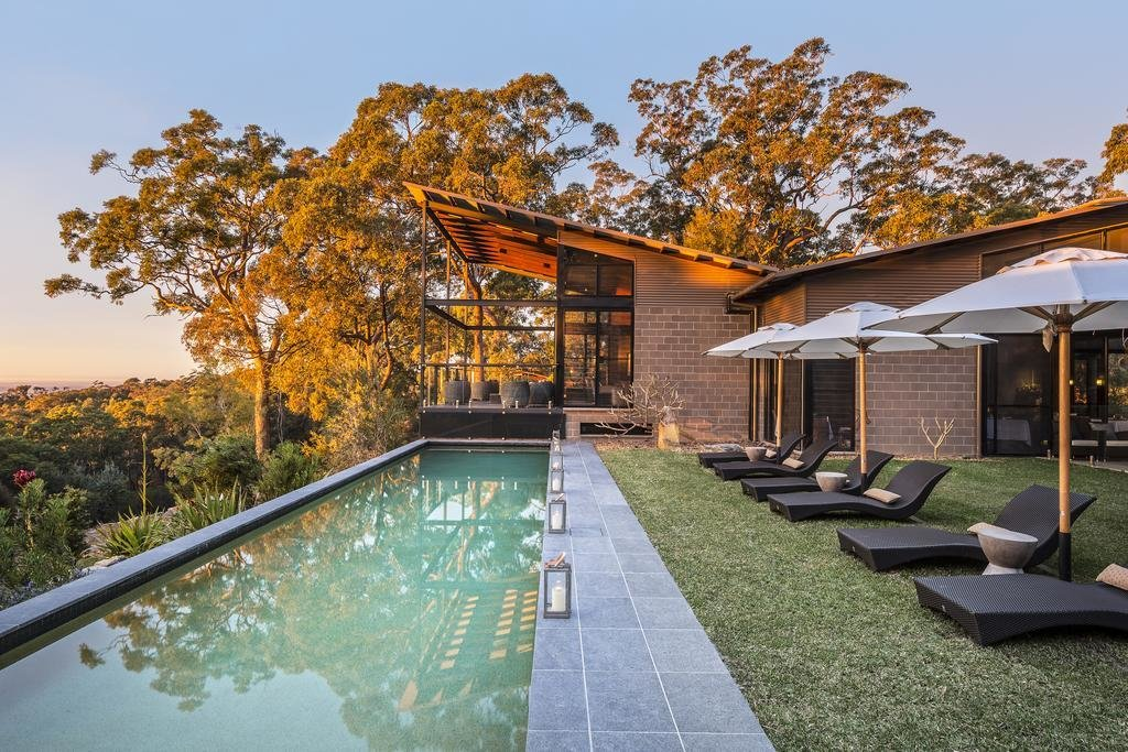 Outdoor, Grass, Large Pools, Tubs, Shower, and Trees  Spicers Sangoma Retreat