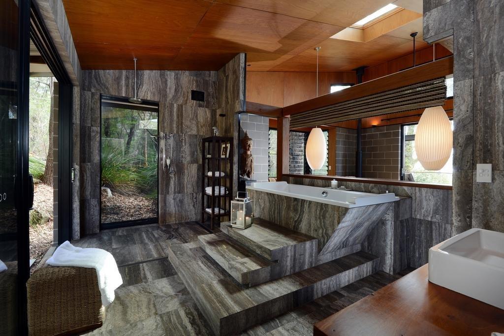 Bath Room, Vessel Sink, Soaking Tub, and Pendant Lighting  Spicers Sangoma Retreat