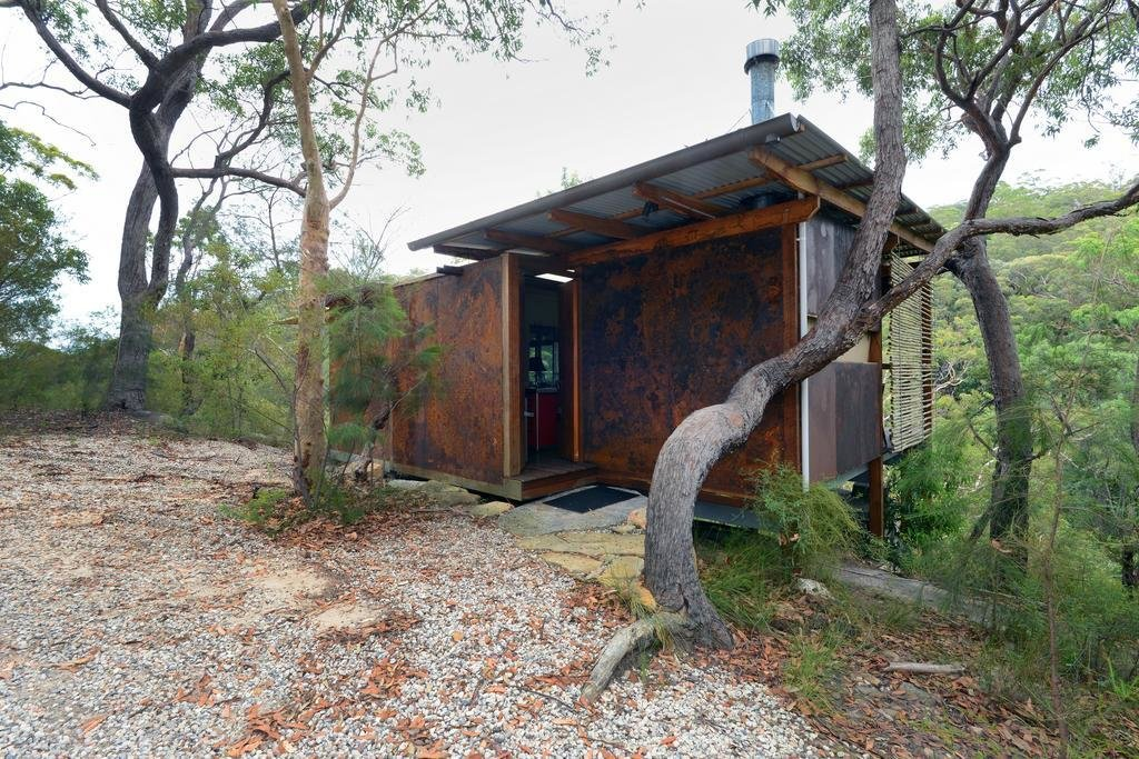 Exterior, Flat RoofLine, Metal Siding Material, Metal Roof Material, and Cabin Building Type  Spicers Sangoma Retreat