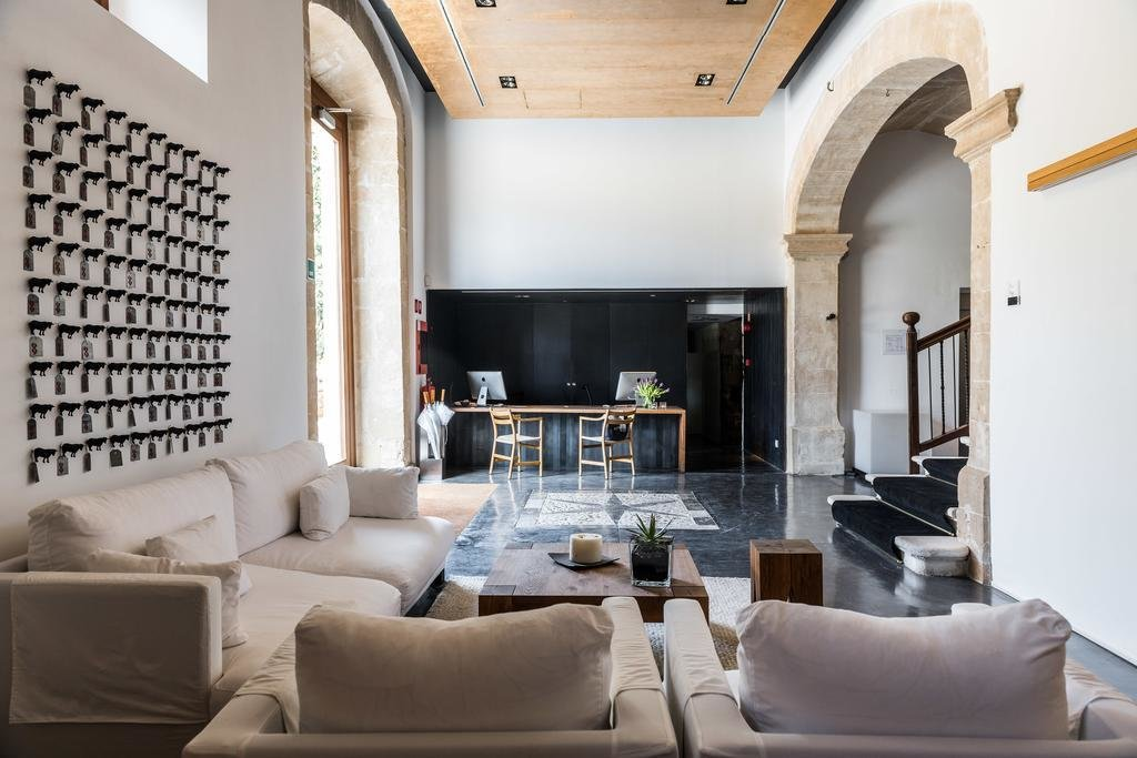 Living Room, Chair, Coffee Tables, Sofa, and Recessed Lighting  Son Brull Hotel & Spa