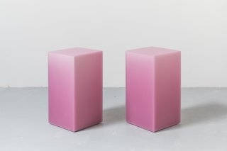 A pair of pink SHIFT boxes for TenOverSix.