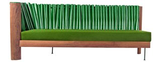 The pleated-leather Kona sofa by Inès Bressand is the first piece of <br>soft furniture made <br>by Mabeo.