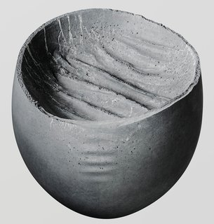 Each of the 104 bowls in UMÉ Studio's Concrete collection is unique, but all of them feature delicate edges rendered in hand-poured concrete.