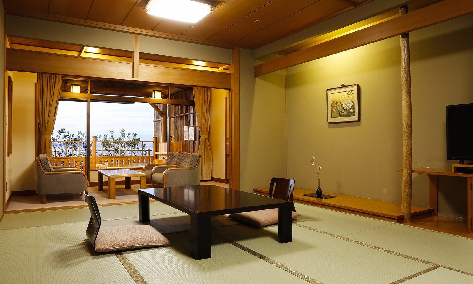 Dining Room, Chair, Ceiling Lighting, and Table  Villa Rakuen