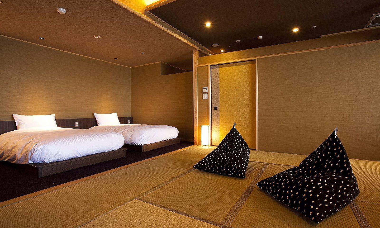 Bedroom, Bed, and Recessed Lighting  Villa Rakuen