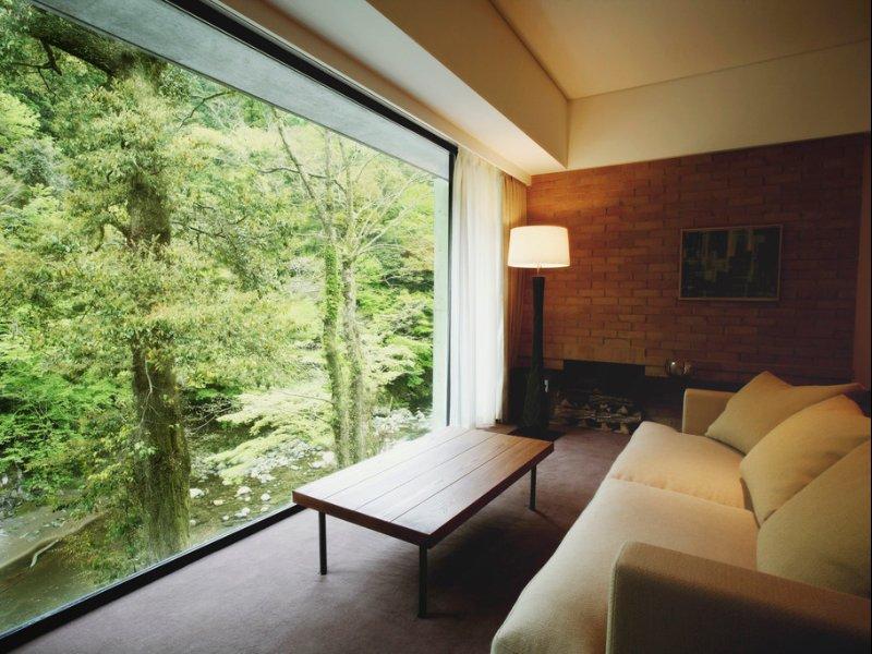 Living Room, Floor Lighting, Carpet Floor, Sofa, and Coffee Tables  Arcana Izu