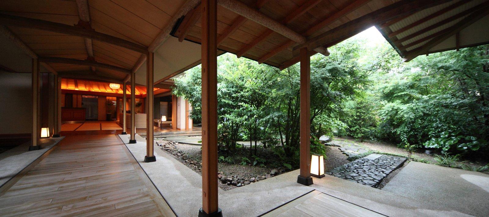 Outdoor, Trees, Concrete Patio, Porch, Deck, and Wood Patio, Porch, Deck  Bettei Otozure