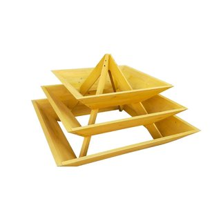 August Grove Gorgias 3-Tier Pyramid 4 ft x 4 ft Solid Wood Raised Garden