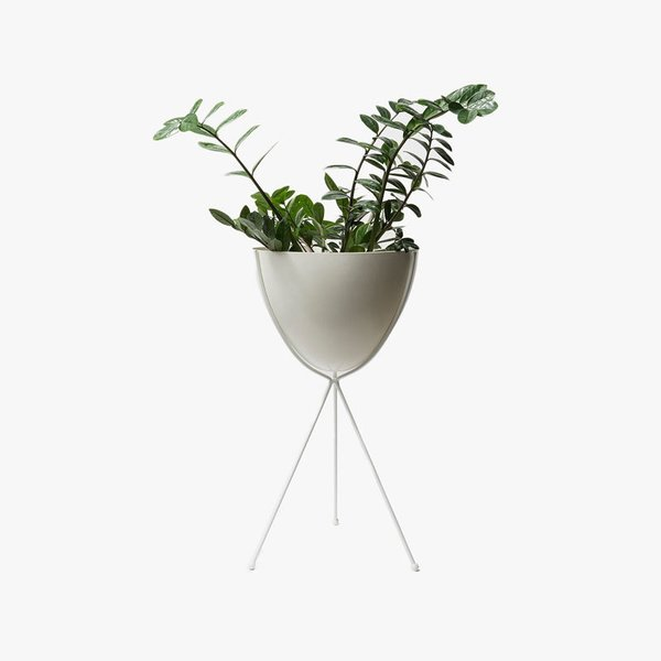 Hip Haven Tall White Stand - White Bowl