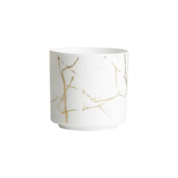 CB2 Palazzo Marbleized Tea Light Candle Holder