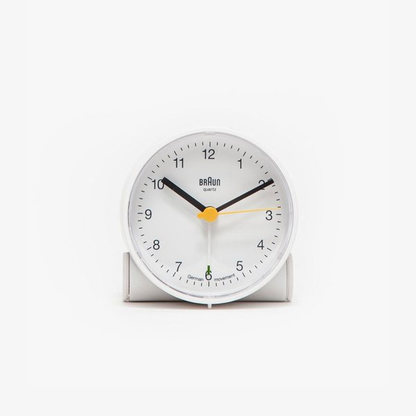 Braun Alarm Clock in White