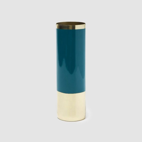 Hawkins New York Louise Brass Vase - Medium