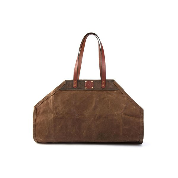 Sturdy Brothers Leather & Waxed Canvas Firewood Carrier