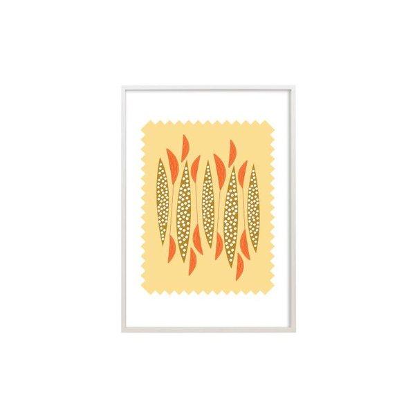 Mid Century Modern Design Art Print - Kayak