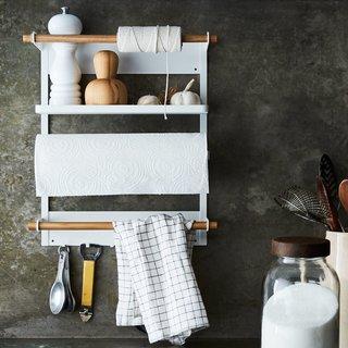 Yamazaki Steel & Wood Magnetic Refrigerator Rack