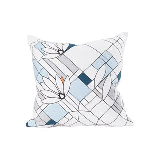 Frank Lloyd Wright Water Lilies Throw Pillow