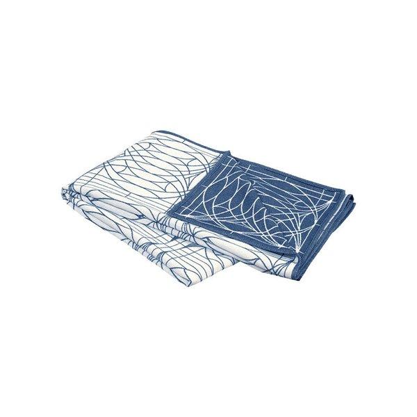 Frank Lloyd Wright G. Blossom Art Glass Allure Blue Bamboo Throw