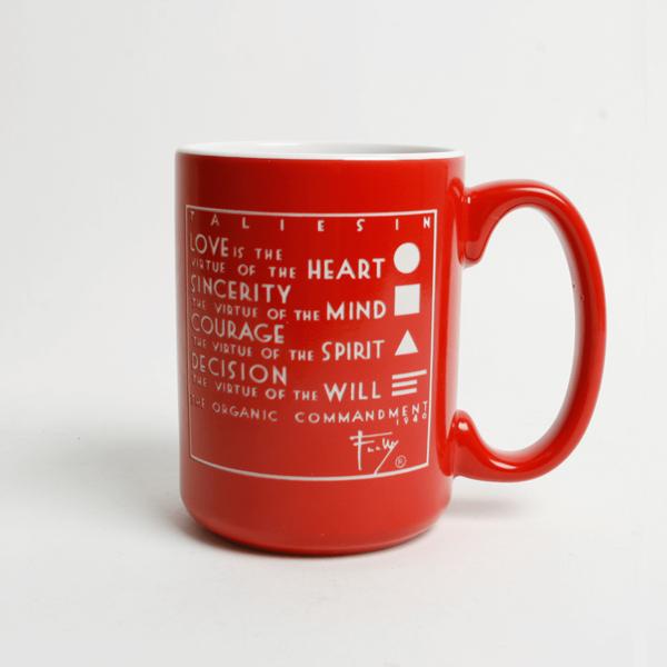 Frank Lloyd Wright Four Organic Truths Red Mug