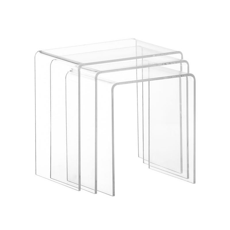 Awesome Cb2 3 Piece Peekaboo Acrylic Nesting Table Set By Cb2 Dwell Unemploymentrelief Wooden Chair Designs For Living Room Unemploymentrelieforg