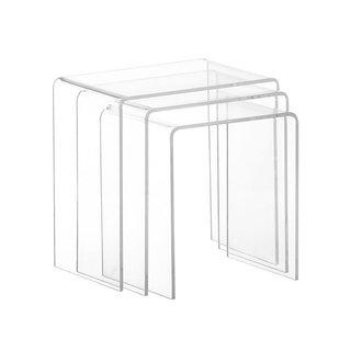 CB2 3-Piece Peekaboo Acrylic Nesting Table Set