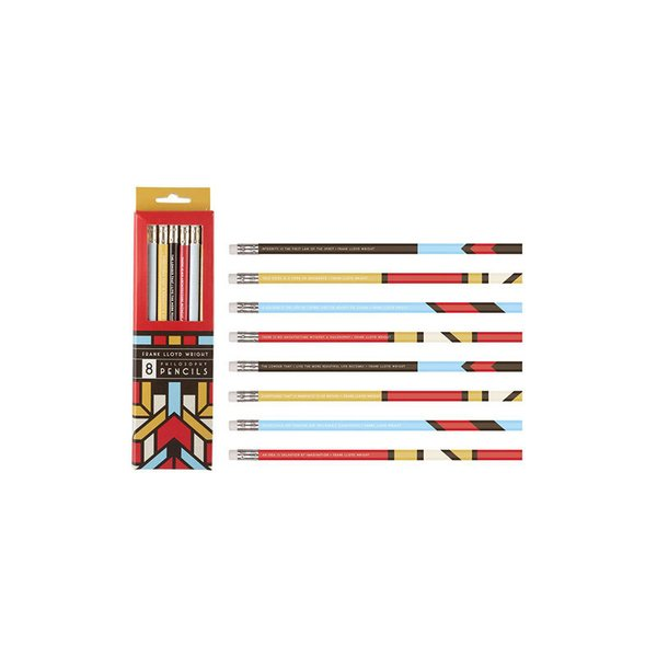 Frank Lloyd Wright Quote Pencils