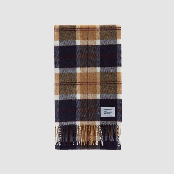 Norse Projects x Johnstons Check Scarf in Black Watch Scarf
