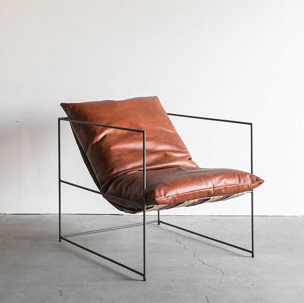 Croft House Sierra Leather Chair in Havana
