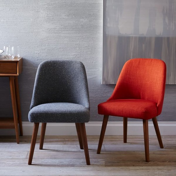 West Elm Mid-Century Upholstered Dining Chair