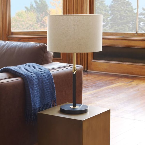 West Elm Telescoping Table Lamp - Black