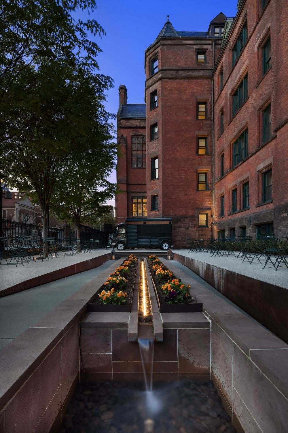 "Outdoor, Flowers, Landscape Lighting, and Trees  Search ""landscapes--trees"" from The High Line Hotel"