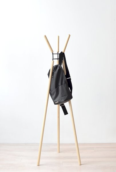 Misewell Wave Coat Rack - Ash and Black