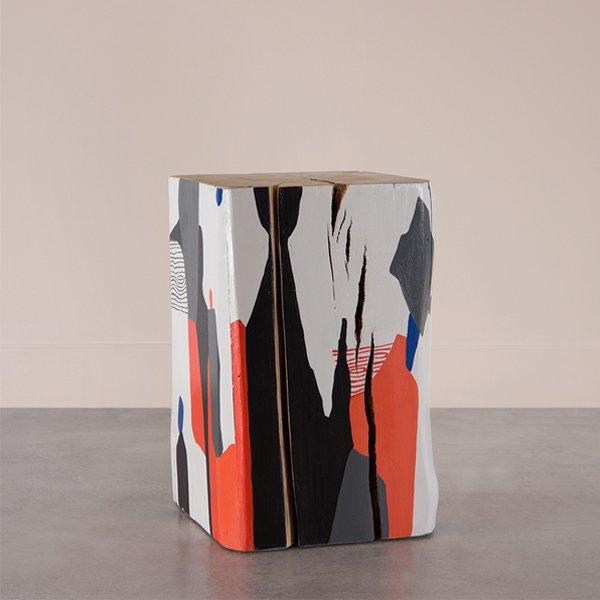 Pfeifer Studio La Cueva Hand Painted Cube Table