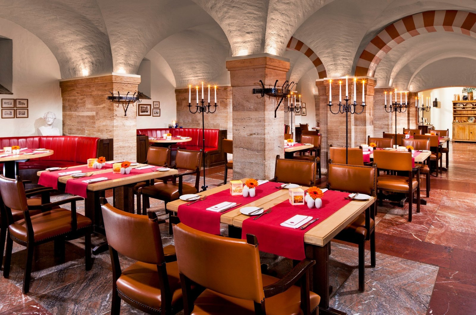 Dining Room, Accent Lighting, Chair, Table, and Floor Lighting  Hotel Elephant