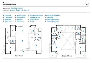 Foster Residence floor plan.