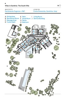 Villas in Sardinia: The South Villa Floor Plan