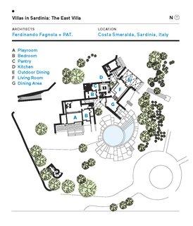 Villas in Sardinia: The East Villa Floor Plan