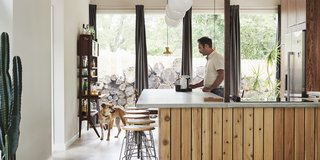 A Self-Taught Designer Builds a Midcentury-Inspired Home on a Budget