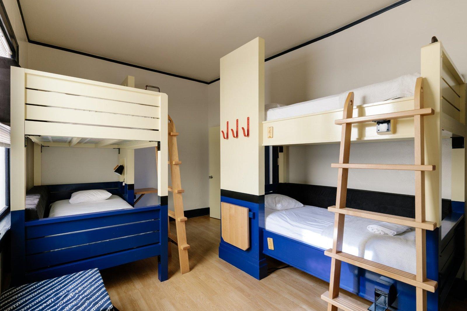 Bedroom, Light Hardwood Floor, and Bunks  Miami Freehand