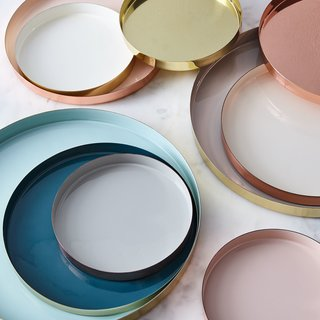 Hawkins New York Copper and Brass Louise Trays