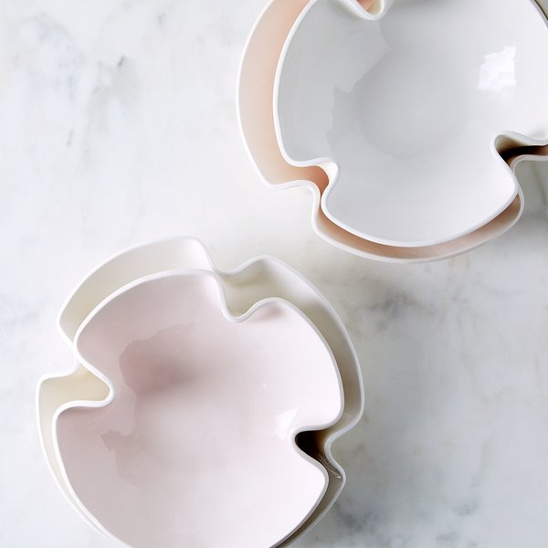 Looks Like White Handmade Curvy Serving Bowls