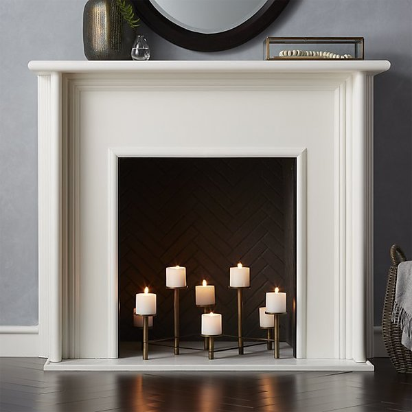 Crate and Barrel Brass Fireplace Candelabra