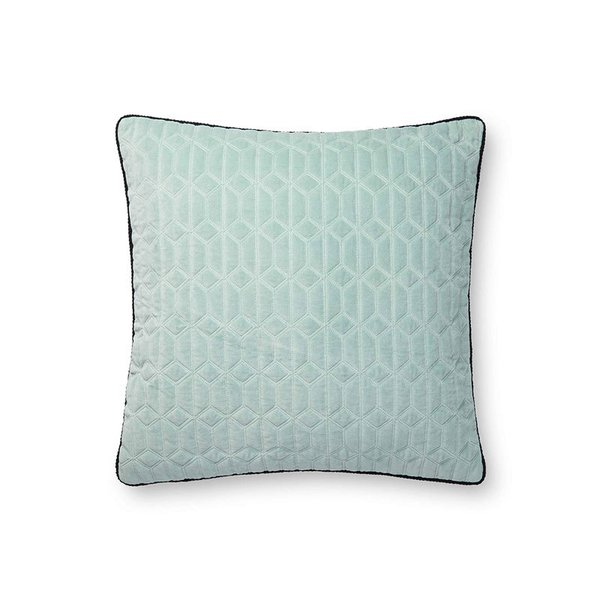 Now House by Jonathan Adler Quilted Velvet Pillow, Minty Grey