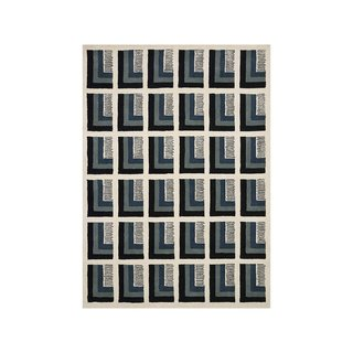 Now House by Jonathan Adler Pierre Collection Area Rug, Ivory and Blue