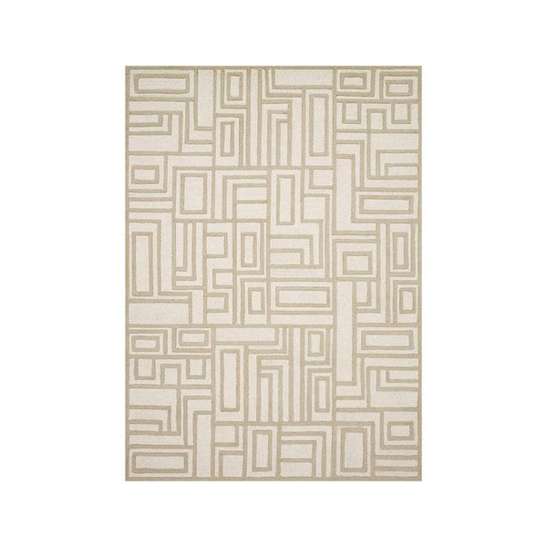 Now House by Jonathan Adler Blocks Collection Area Rug, Ivory and Beige