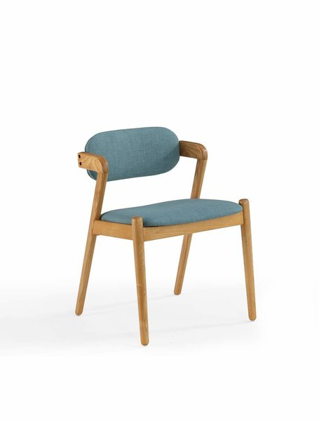 Now House by Jonathan Adler Oslo Mid-Century Dining Chair, Stockholm Capri