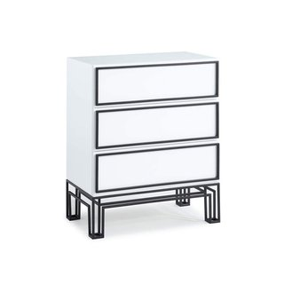 Now House by Jonathan Adler Grid 3-Drawer Dresser, Black and White