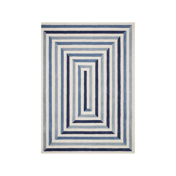Now House by Jonathan Adler Maze Collection Area Rug, Ivory and Blue