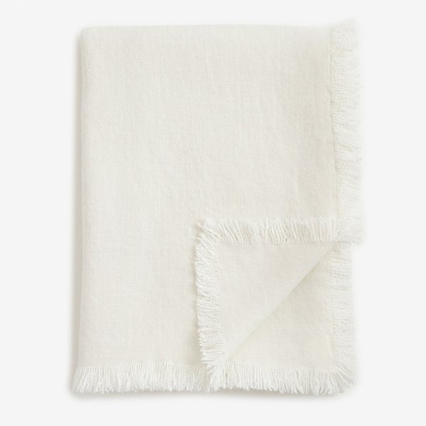 Allos White Linen Blanket