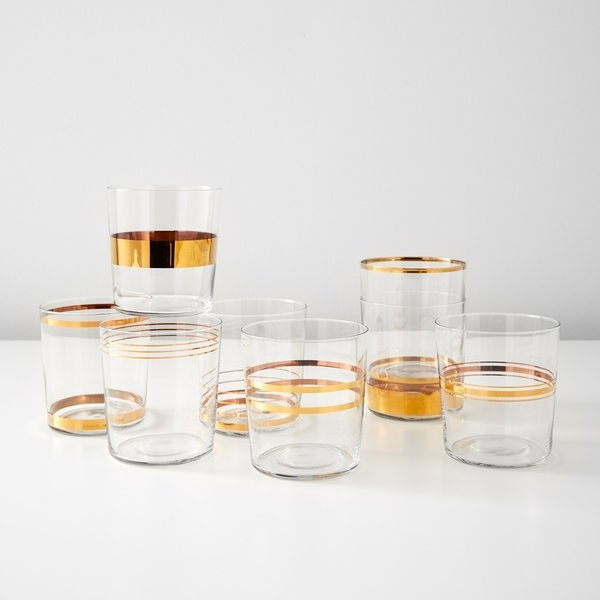 LSA International Deco Gold Tumblers - Set of Eight